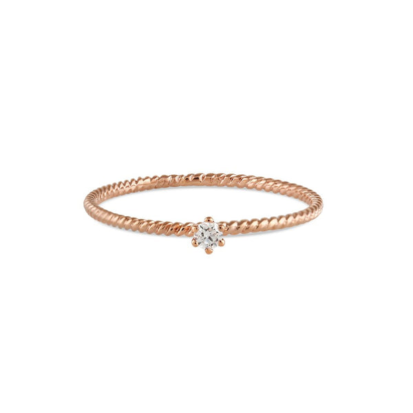 Seis Classic Diamond Twist Ring