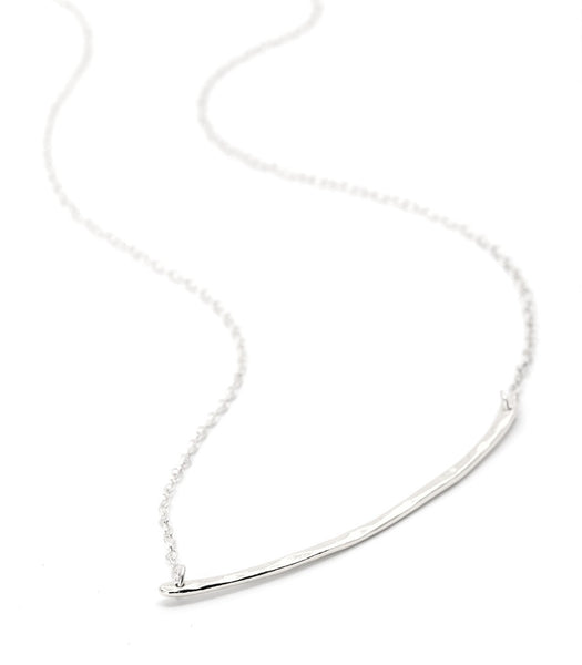 Taner Bar Small Necklace - Silver