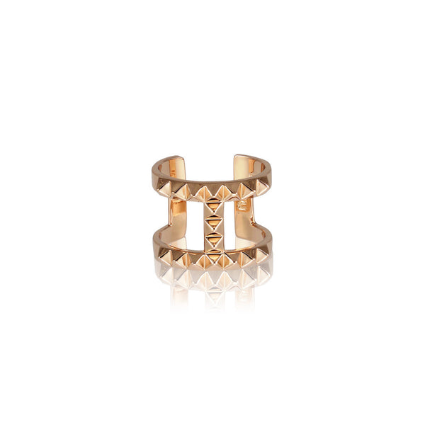 The T-Bar Punk Stud Ring - Rose Gold