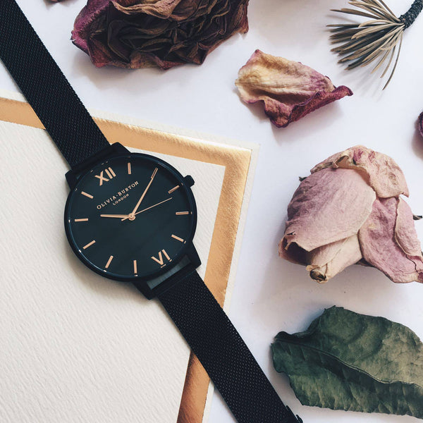 AFTER DARK CLASSIC BLACK DIAL & MESH STRAP