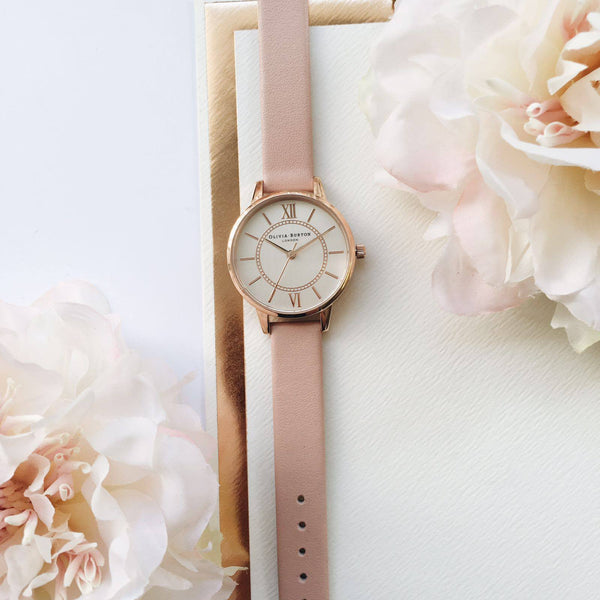 MIDI WONDERLAND SILVER DIAL IN DUSTY PINK