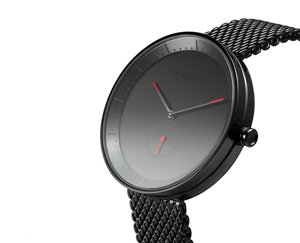 Domeni Co Signature Black Mesh Watch - Black Face