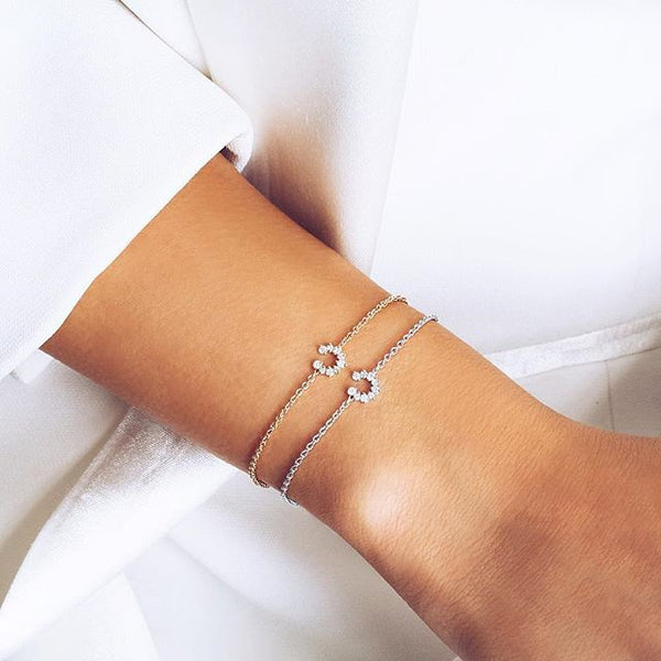 (PRE-ORDER) Petite Diamond Horseshoe Bracelet in Rose Gold