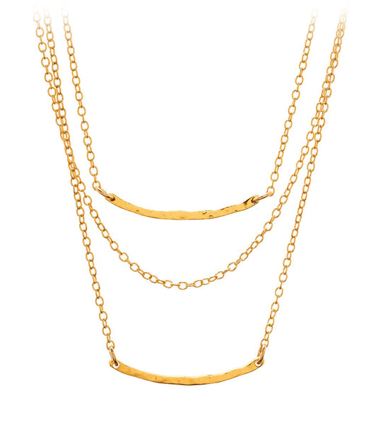 Taner Bar Mini Triple Layer Necklace