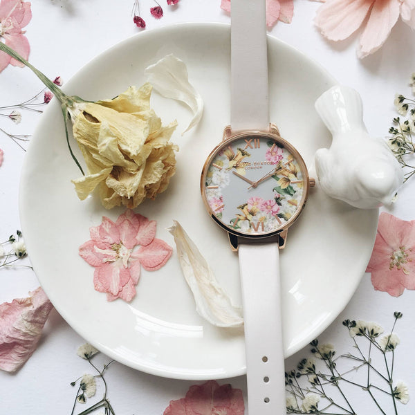 Flower Show Blush & Rose Gold (Big Dial)