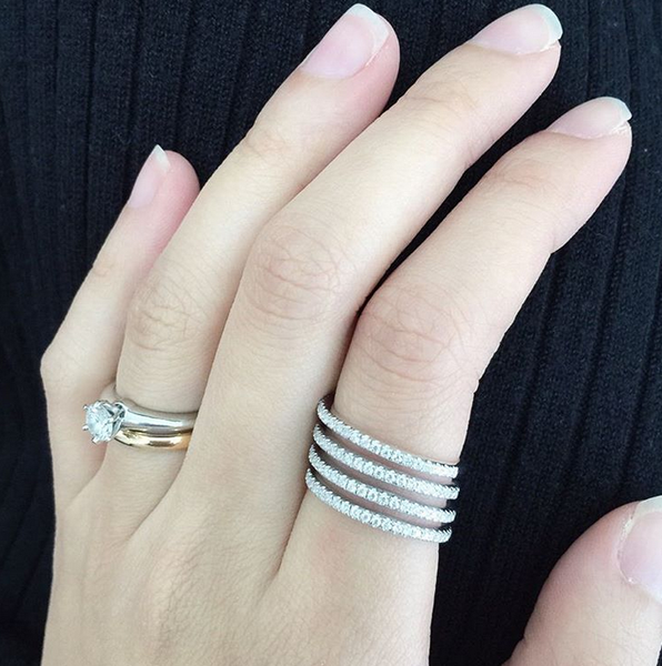 LAYERED ETERNITY RING - SILVER