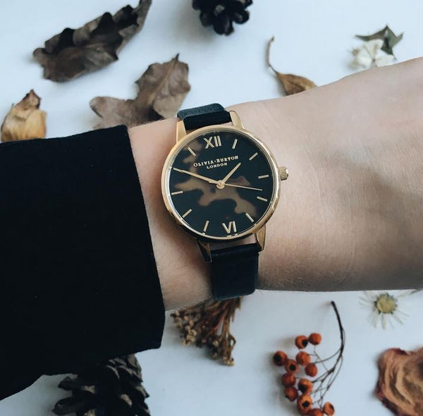 MIDI DIAL TORTOISESHELL BLACK AND GOLD
