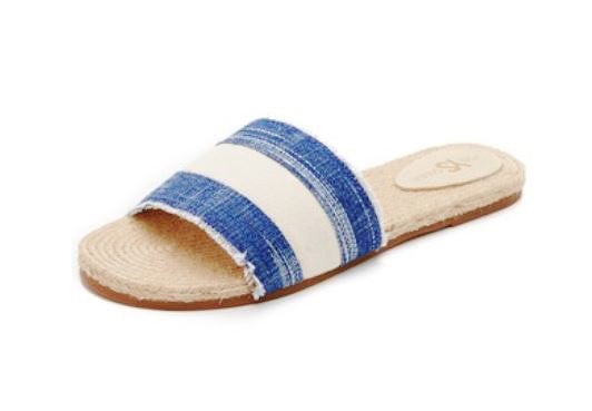 Reese Slides - Denim White