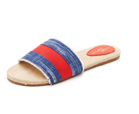 Reese Slides - Denim Red