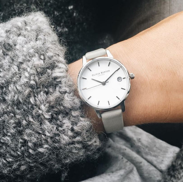 THE DANDY - MIDI WHITE DIAL WITH PINK STRAP