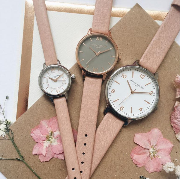 MODERN VINTAGE - WHITE DIAL WITH PINK STRAP