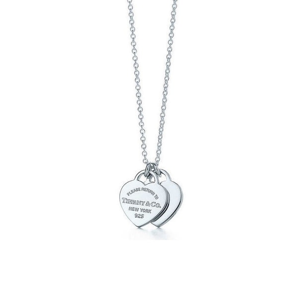 Tiffany & Co - Mini Double Heart Tag Pendant