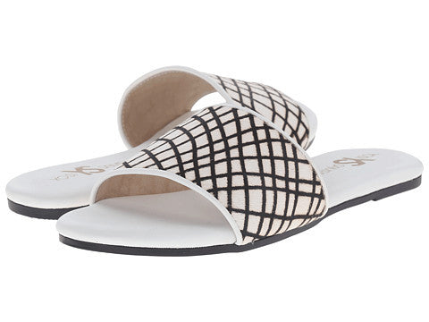 Reese Slides - Criss Cross White