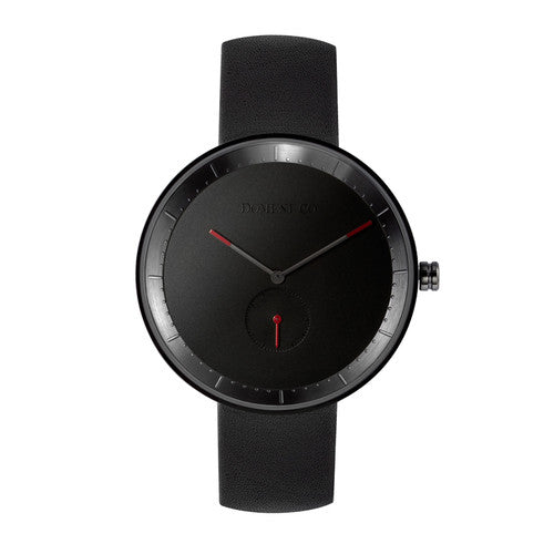 Domeni Co Signature Leather Watch - Black Dial