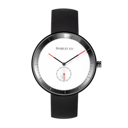 Domeni Co Signature Leather Watch - White Dial