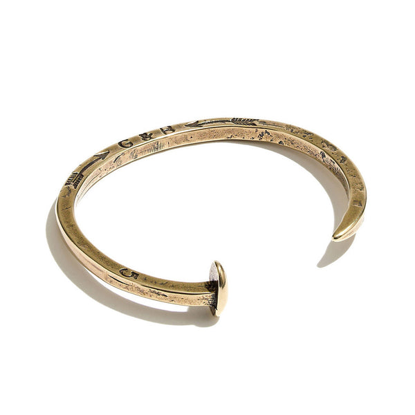 Skinny Railroad Spike Cuff - Brass