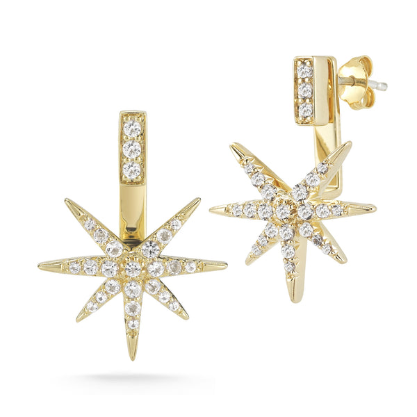 Elizabeth and James Astral Earrings with White Topaz