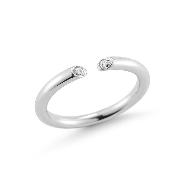 Elizabeth and James Obi Ring - Silver