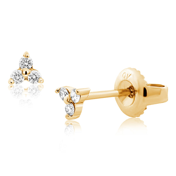 Diamond Tria Earrings Yellow Gold