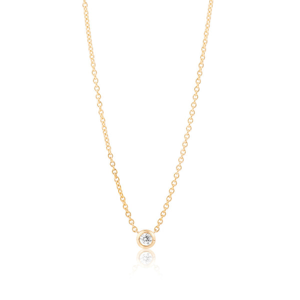 DIAMOND SOLITAIRE NECKLACE - ALL COLOUR