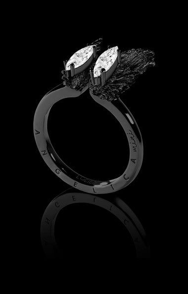 ANGELICA MINI RING - ARMOR BLACK RHODIUM