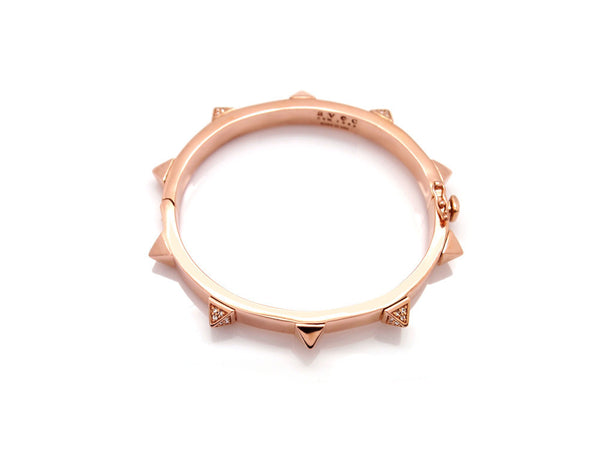 (PRE-ORDER) ALT PAVE PYRAMID STUD BANGLE