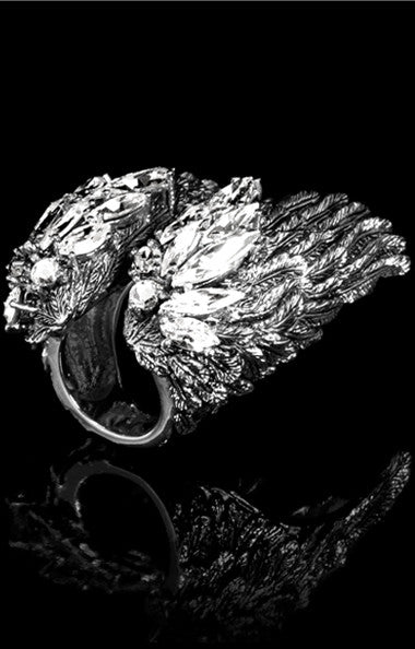 ANGELICA RING - ARGENT RHODIUM