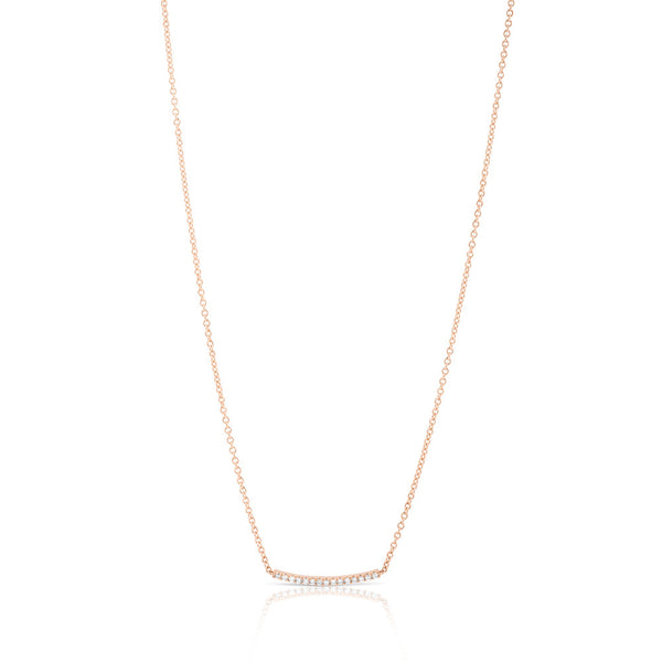 DIAMOND BAR NECKLACE - 3 COLOURS