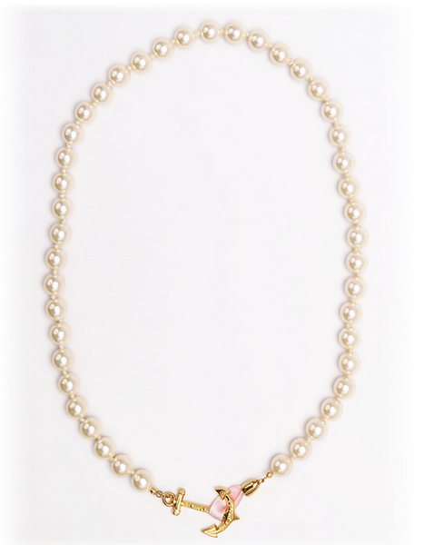 (PRE-ORDER) Pearl Collection - Aubrey Pearl Anchor Necklace