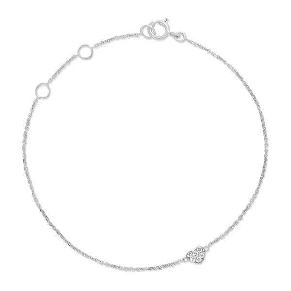 (PRE-ORDER) BAMBINO DIAMONDS HEART BAMBINO BRACELET IN WHITE GOLD