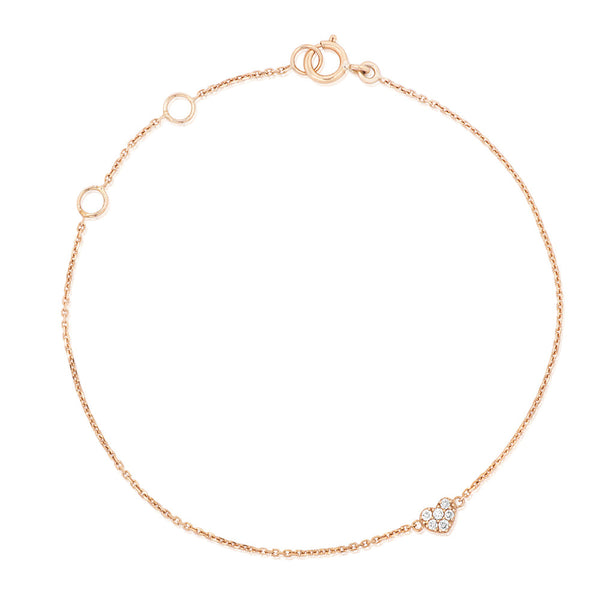 (PRE-ORDER) BAMBINO DIAMONDS HEART BAMBINO BRACELET IN YELLOW GOLD