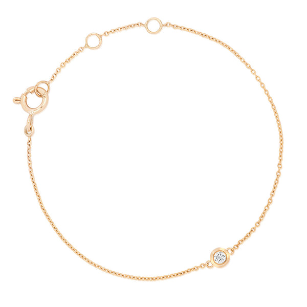 (PRE-ORDER) BAMBINO DIAMONDS SOLITAIRE BRACELET IN YELLOW GOLD