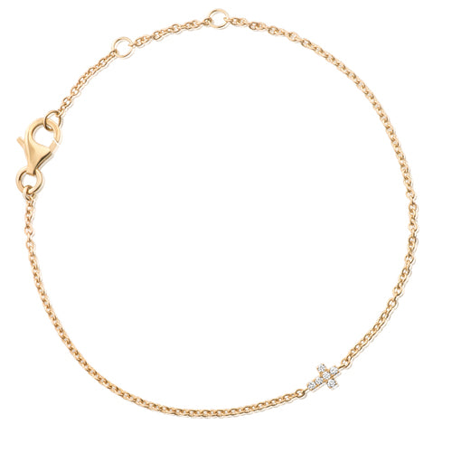 (PRE-ORDER) MY FIRST DIAMOND SOLID CROSS BAMBINO BRACELET - YELLOW GOLD