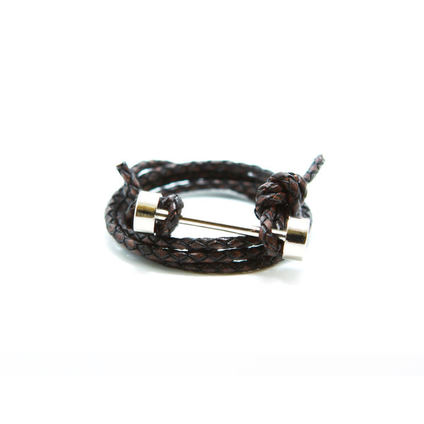 BARBELL BRACELET - BROWN