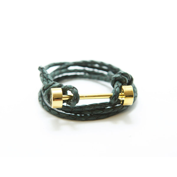 BARBELL BRACELET - FOREST GREEN