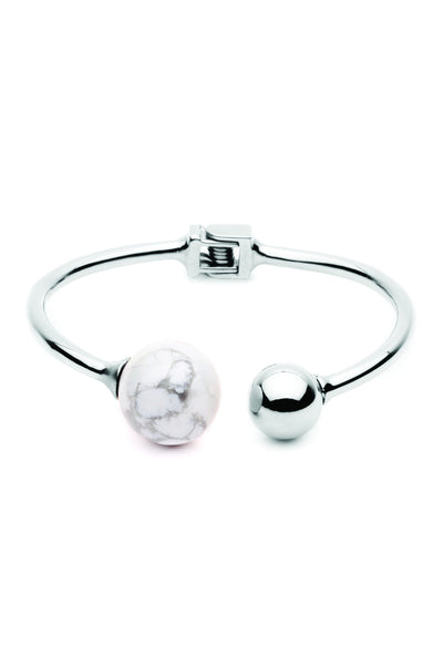 (PRE-ORDER) Bentley Bangle - Silver Marble