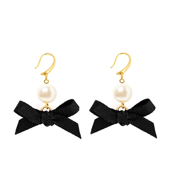 (PRE-ORDER) Bow Earring Collection - Black Tie Ball
