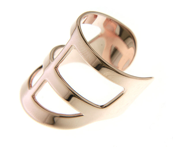 (PRE-ORDER) BRIAN CROSS RING - ROSE GOLD