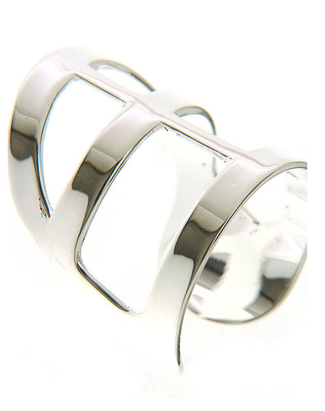 BRIAN CROSS RING - SILVER