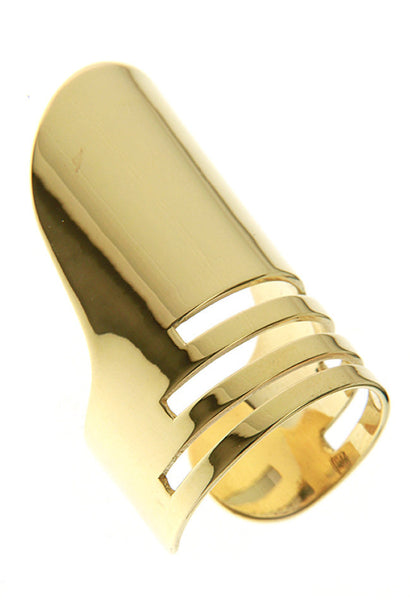 (PRE-ORDER) CHARLIE SLIT RING - YELLOW GOLD