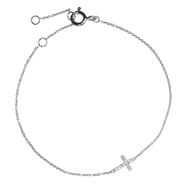 (PRE-ORDER) DIAMOND CROSS BRACELET