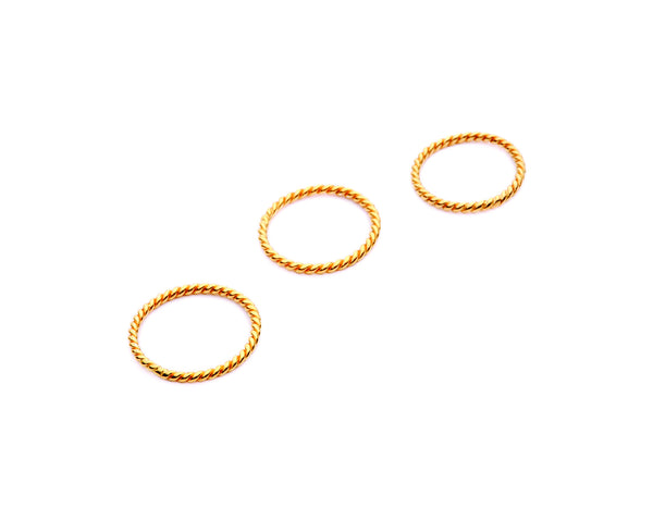 (PRE-ORDER) Coil Rings - Gold