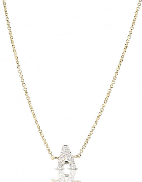 (PRE-ORDER) DIAMOND LETTER MONOGRAM NECKLACE
