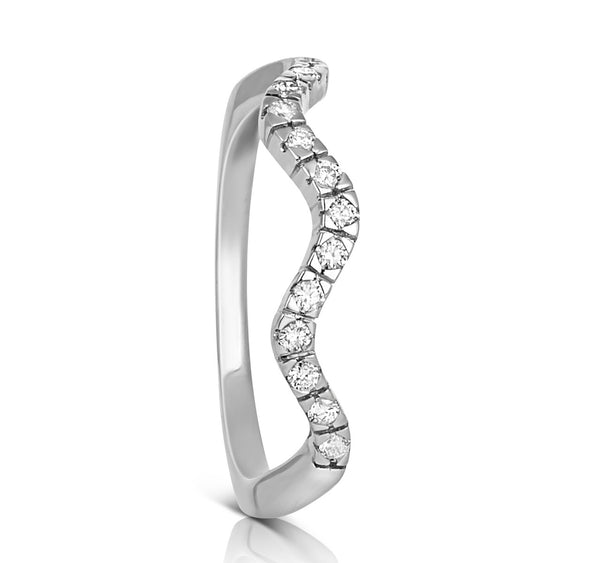 (PRE-ORDER) DIAMOND ZIGGY RING SET IN WHITE GOLD