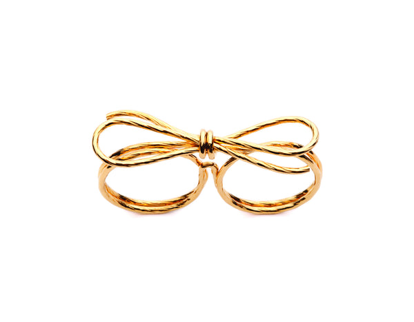 (PRE-ORDER) Double Bow Ring - Gold