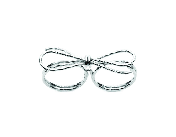 (PRE-ORDER) Double Bow Ring - Silver