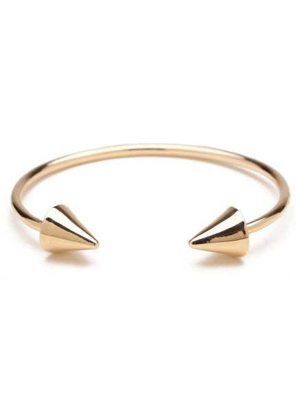 DOUBLE HEADER SPIKE BRACELET GOLD