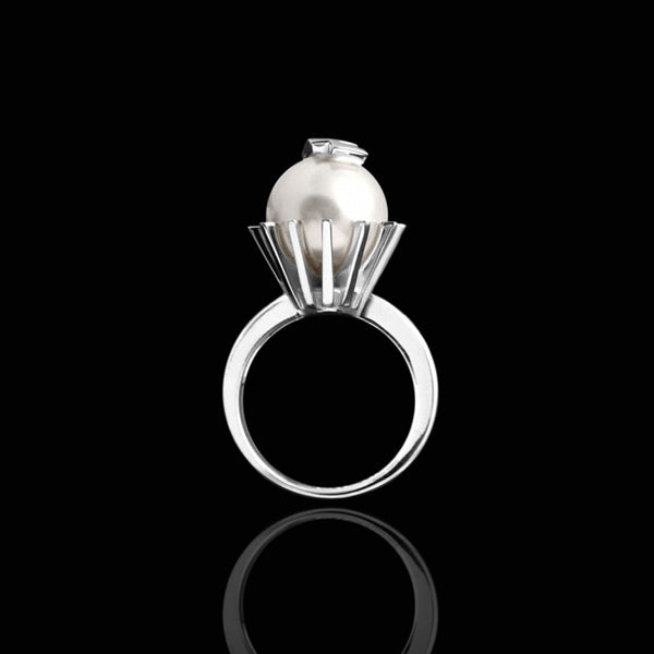 ELIZA PEARL RING - ARGENT