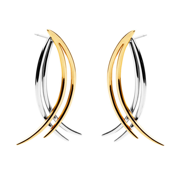 (Pre-Order) Leighton Earring - Mix Gold & Silver