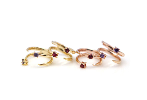 (PRE-ORDER) ETOILE STONE KNUCKLE DOUBLE RING